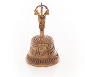 在白色背景的西藏响铃 免版税库存照片
