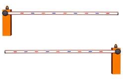 在白色背景的路障碍 免版税库存图片