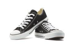 在白色背景的运动鞋 免版税库存照片