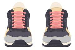 在白色背景的运动鞋 库存例证