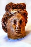 在白色背景的陶瓷头 库存图片