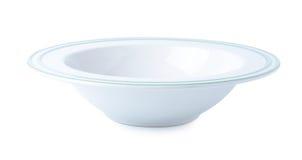 在白色背景的陶瓷碗 免版税库存照片