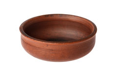 在白色背景的陶瓷碗 免版税库存图片