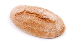 在白色背景的面包 库存照片