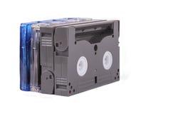 在白色背景的音乐磁带 免版税库存照片