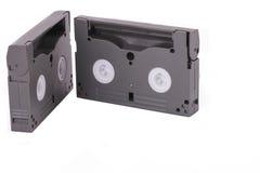 在白色背景的音乐磁带 免版税库存图片