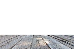 在白色背景的领域木头 库存照片
