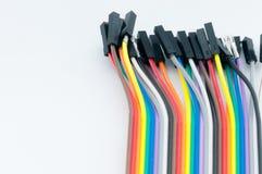 在白色背景的颜色缆绳 库存图片