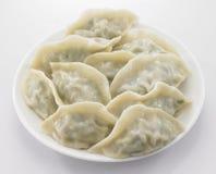 在白色背景的饺子 免版税库存图片