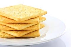 在白色背景的饼干 免版税库存照片