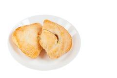 在白色背景的鲜美松饼 库存照片