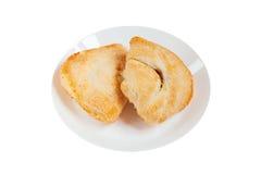 在白色背景的鲜美松饼 免版税库存照片