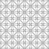 在白色背景的黑几何印刷品 无缝的模式 图库摄影