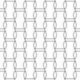 在白色背景的黑几何印刷品 无缝的模式 免版税库存照片