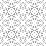 在白色背景的黑几何装饰品 无缝的模式 库存图片
