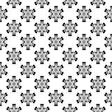 在白色背景的黑花卉无缝的样式 库存图片