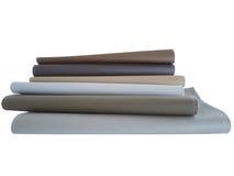 在白色背景的织品样品 免版税库存照片
