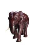 在白色背景的黏土小雕象泰国大象 免版税库存照片