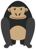 在白色背景的黑大猩猩 皇族释放例证