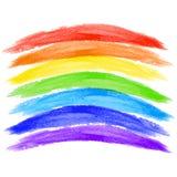在白色背景的水彩彩虹 库存照片