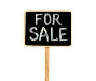 在白色背景的黑板,销售概念的 免版税图库摄影