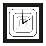 在白色背景的黑白时钟 库存图片