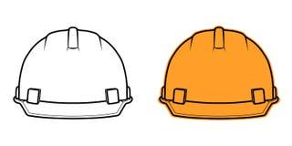 在白色背景的建筑盔甲象正面图 免版税库存照片