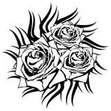 在白色背景的黑色玫瑰。 库存图片