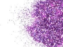 在白色背景的紫色闪烁闪闪发光 免版税库存图片