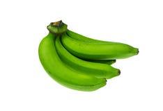 在白色背景的绿色香蕉捆绑 图库摄影