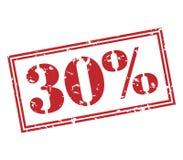 在白色背景的30%邮票 免版税库存图片