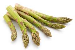 在白色背景的Eco芦笋 农业新鲜市场产品蔬菜 免版税库存照片