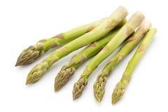 在白色背景的Eco芦笋 农业新鲜市场产品蔬菜 库存图片