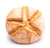 在白色背景的Roun面包 免版税库存图片