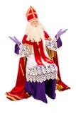 在白色背景的Sinterklaas 免版税库存图片