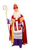 在白色背景的Sinterklaas 免版税图库摄影