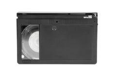 在白色背景的VHS-C录象带 免版税库存图片
