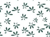 在白色背景绿色花的样式 库存例证
