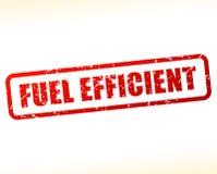在白色背景缓冲的高效燃料的文本 库存例证