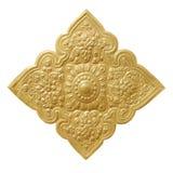 在白色背景被镀隔绝的古色古香的金子 免版税库存图片