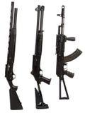 在白色背景被隔绝的机枪武器 免版税库存图片