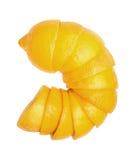在白色背景设置的柠檬 免版税库存照片