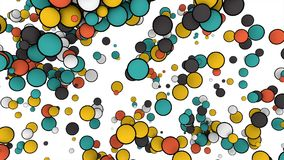 在白色背景隔绝的五颜六色的球的抽象动画 3d翻译 影视素材