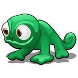 在白色背景隔绝的动画片热带玩具动物变色蜥蜴 也corel凹道例证向量 皇族释放例证
