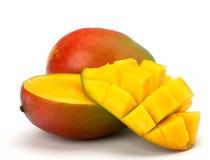 在白色背景的芒果果子 免版税库存图片