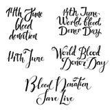 在白色背景隔绝的各种各样的献血天字法集合 皇族释放例证