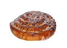 在白色背景隔绝的小圆面包 库存图片