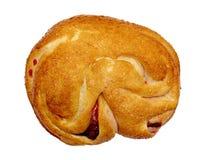 在白色背景隔绝的小圆面包 免版税库存照片
