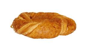 在白色背景隔绝的小圆面包 库存照片