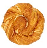 在白色背景隔绝的小圆面包 免版税库存图片